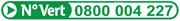 Numéro vert encombrants 0800 004 227