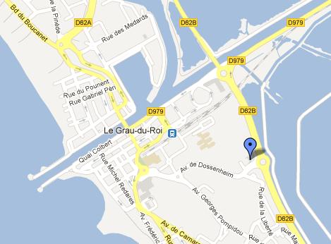 Plan d'accès Centre Aqua-Camargue