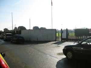 Entrée du stade du Bourgidou