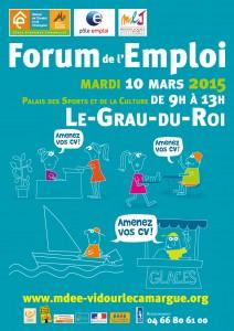 affiche forum de l'emploi saisonnier 2015