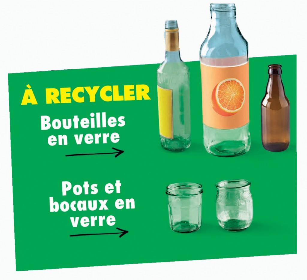 verre à recycler