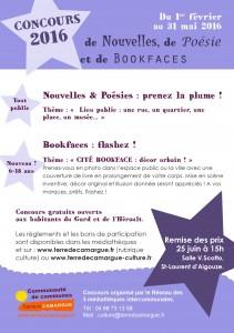 Concours de Nouvelles, de Poésies et de Bookface