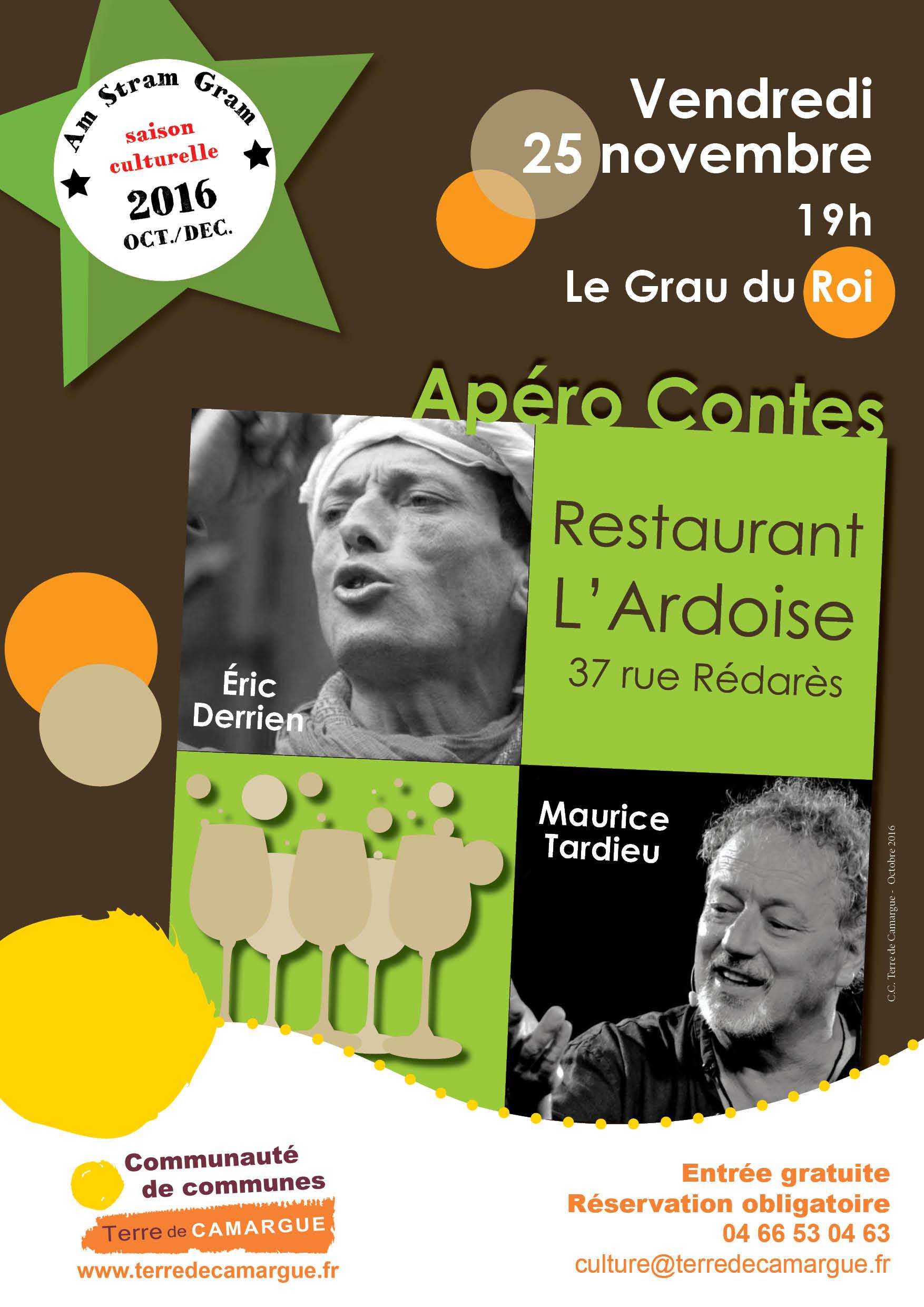 Apéro contes avec Maurice Tardieu et Eric Derrien