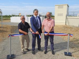 Terre de Camargue a inauguré le raccordement des effluents de Saint-Laurent d'Aigouze à la station d'épuration intercommunale située au Grau du Roi.