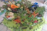 Table de découverte des légumes au restaurant Chloé Dusfourd à Saint-Laurent d'Aigouze