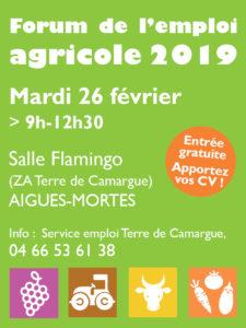 Forum de l'emploi agricole 2019 en Terre de Camargue