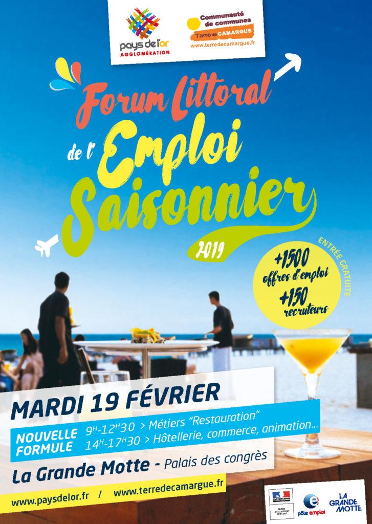 Forum Littoral de l'Emploi Saisonnier, mardi 19 février 2019