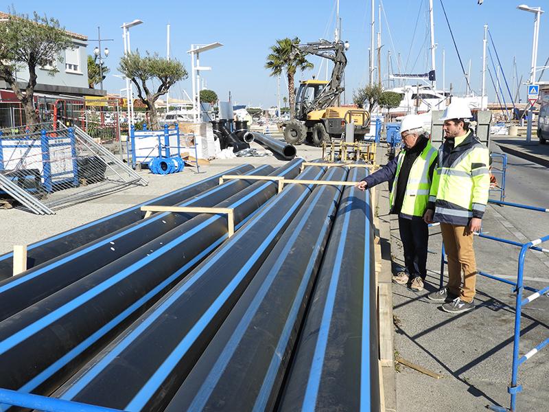 1 million d'euros de travaux au centre ville du Grau du Roi pour sécuriser l'eau potable l'été