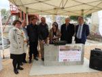 Pose de la première pierre de la médiathèque André Chamson à Aigues-Mortes, mercredi 10 avril 2019