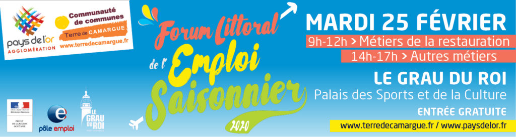 Forum Littoral de l'Emploi Saisonnier, 25 février 2020 au Grau du Roi