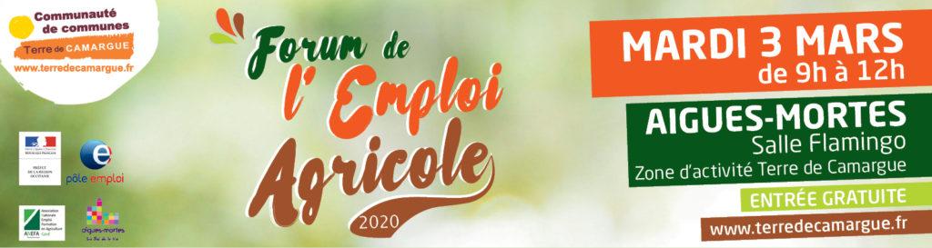 Forum Emploi Agricole, le 3 mars 2020 à Aigues-Mortes
