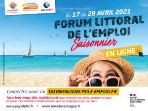 Forum littoral de l'emploi saisonnier : en ligne du 17 au 28 avril 2021