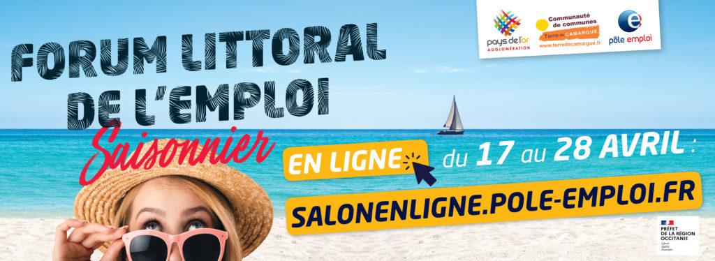 Forum littoral de l'emploi saisonnier en ligne du 17 au 28 avril 2021