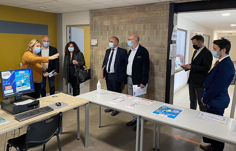 Visite du service emploi par la CCI du Gard