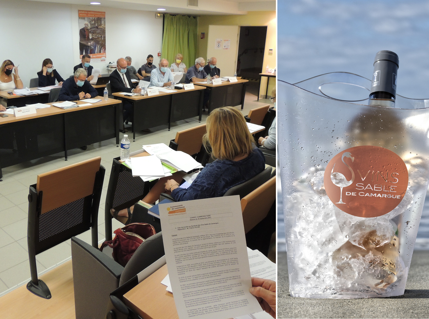 Les élus de Terre de Camargue soutiennent la démarche de reconnaissance en AOP des vins Sable de Camargue