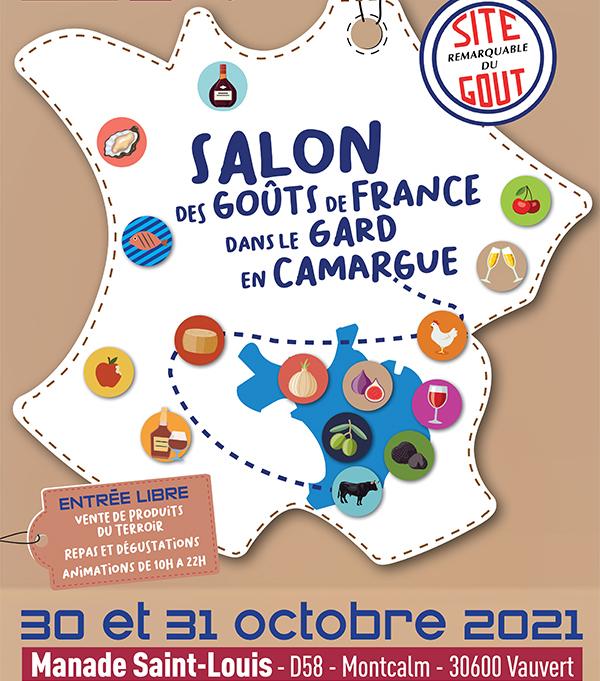 3eme salon des sites remarquables du gout en Camargue les 30 et 31 octobre 2021